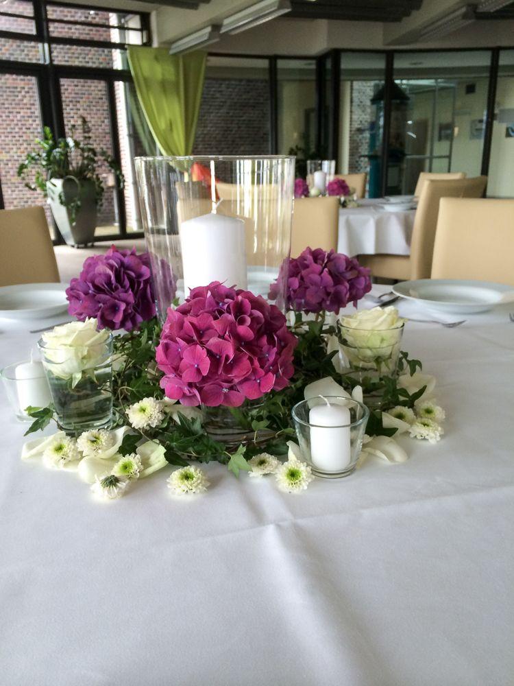 Hochzeit Blumen Tischdeko  Blumen Tischdekoration Hannover Milles Fleurs