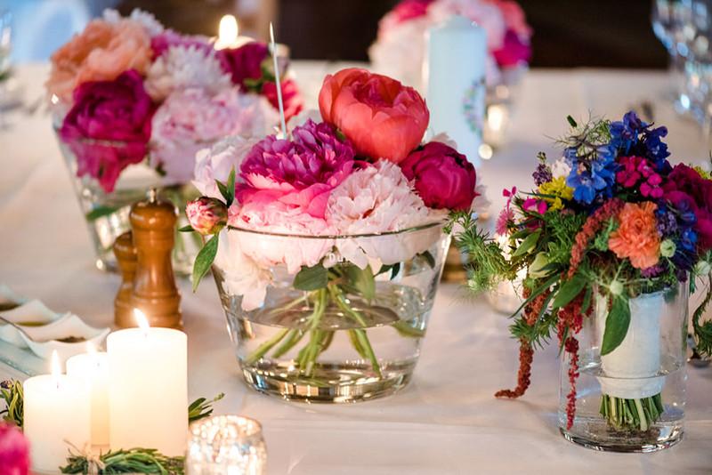 Hochzeit Blumendeko  Hochzeit auf Rittergut