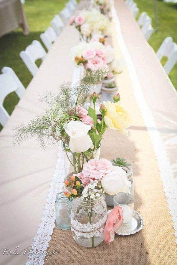 Hochzeit Blumendeko  Traumhafte Tischdeko für eine Vintage Hochzeit