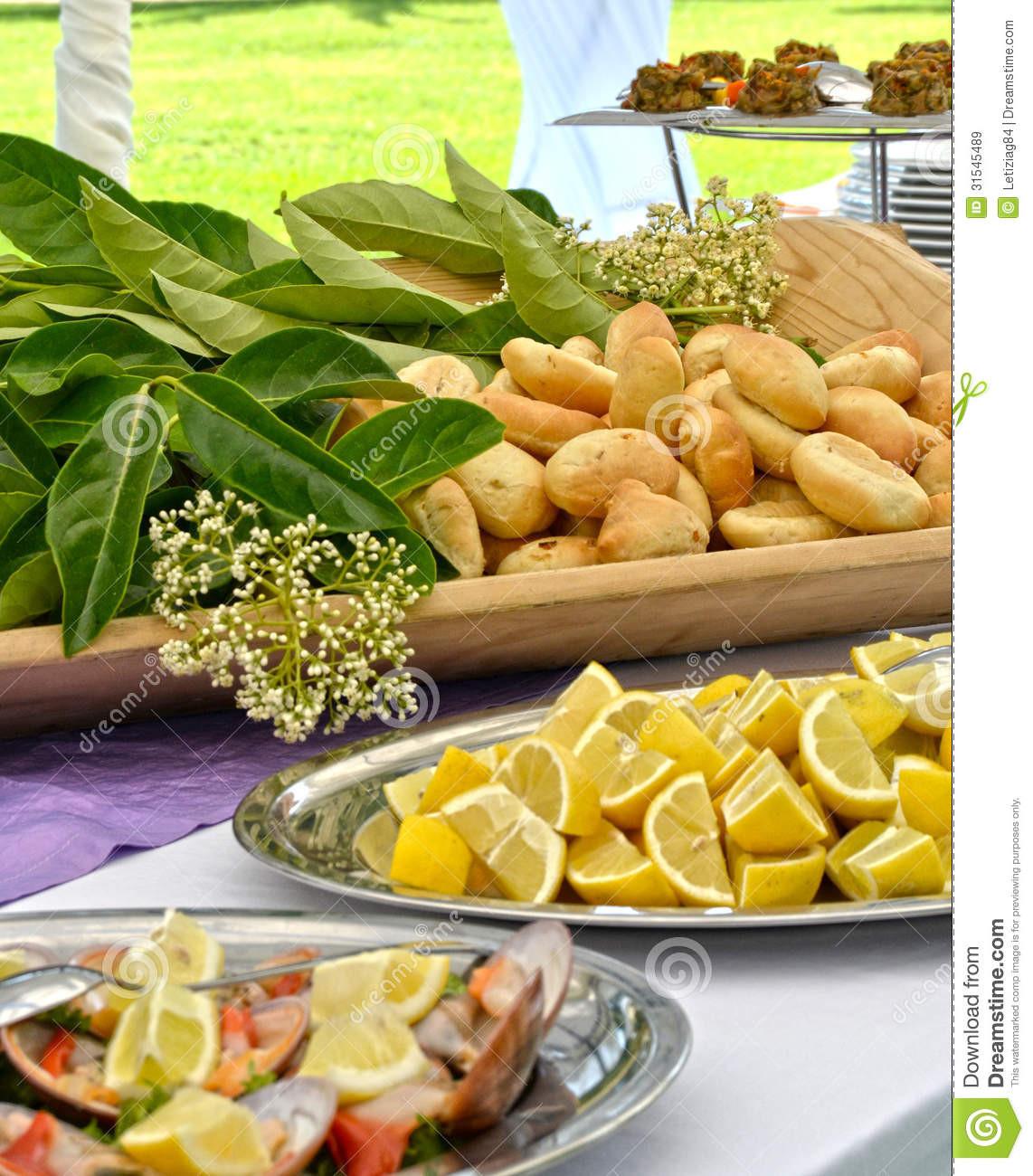 Hochzeit Buffet  Aperitif Buffet Hochzeit Lizenzfreie Stockbilder Bild