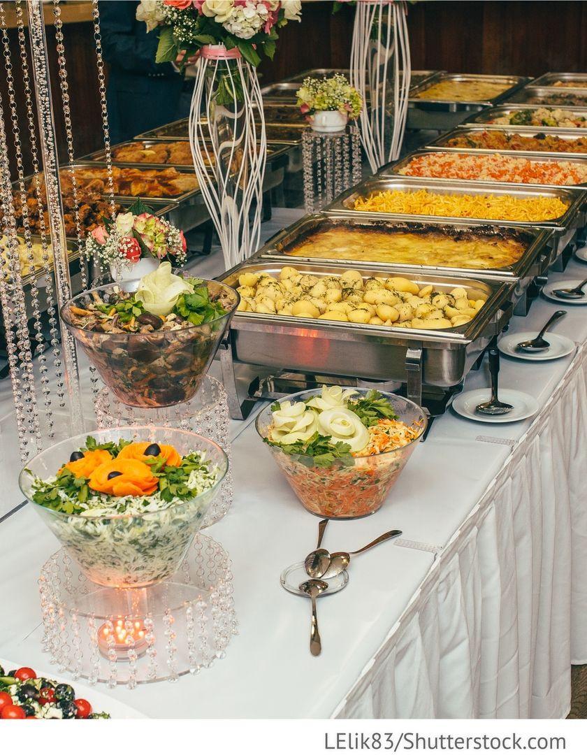 Hochzeit Buffet  Partyservice Dekoration Buffet für Hochzeit