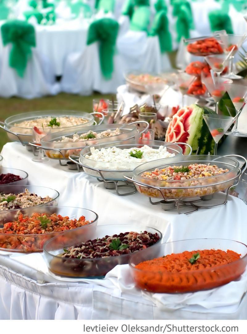 Hochzeit Buffet  Buffet für Hochzeit mit Fisch und Meeresfrüchten für