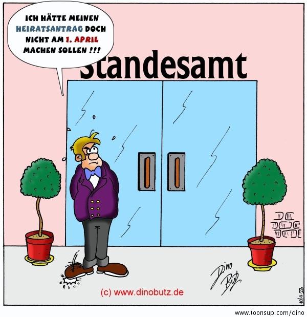 Hochzeit Cartoon  Cartoon April April