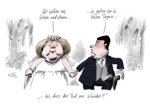 Hochzeit Cartoon  Hochzeit By Stuttmann Politics Cartoon