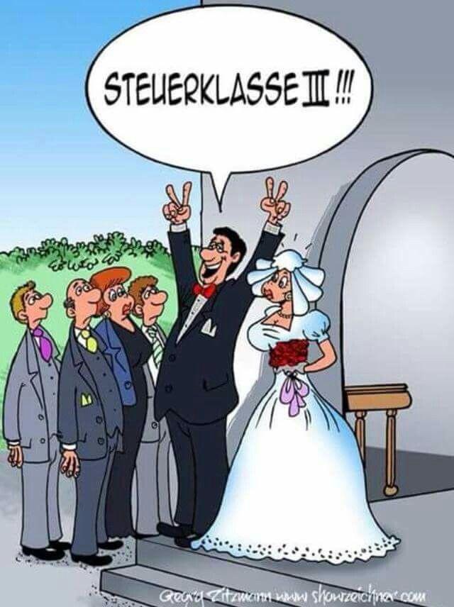 Hochzeit Cartoon  Steuerklasse III Hochzeit