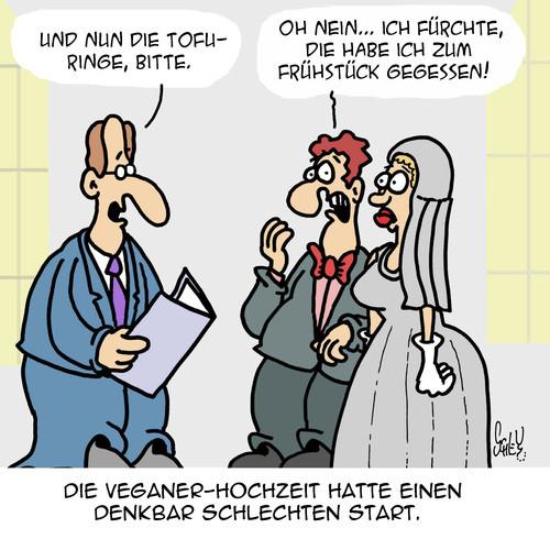 Hochzeit Cartoon  Vegane Hochzeit von Karsten Liebe Cartoon