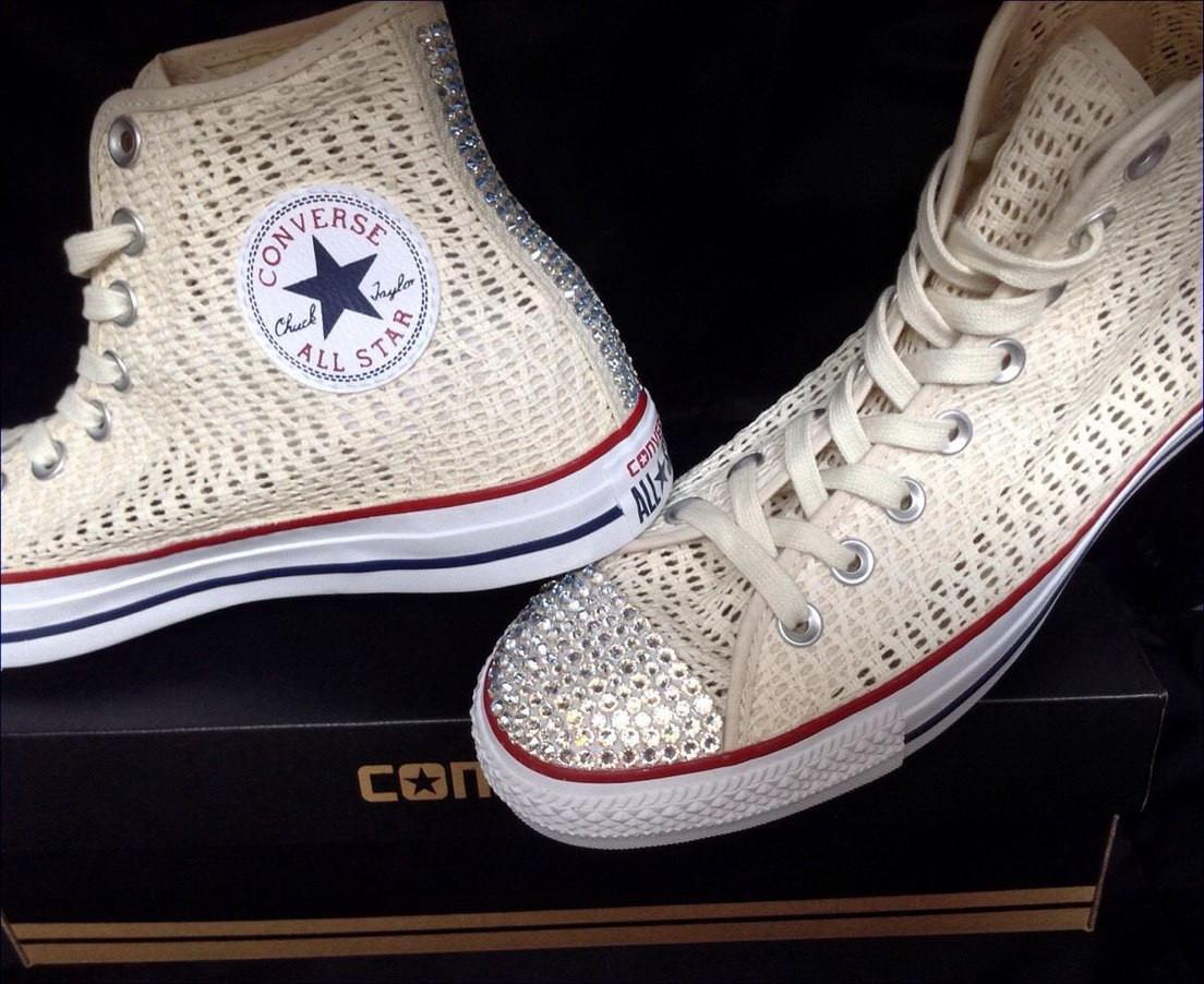 Hochzeit Chucks  Converse Chucks Elfenbein raenke schnellkauf