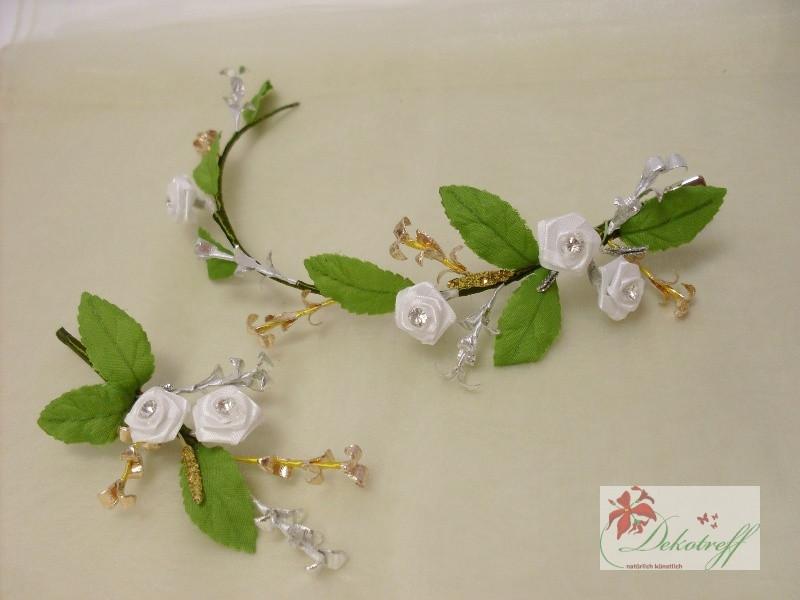 Hochzeit Diamant  Diamantene Hochzeit 60 Jahre Ehe Blüten Haarclip und