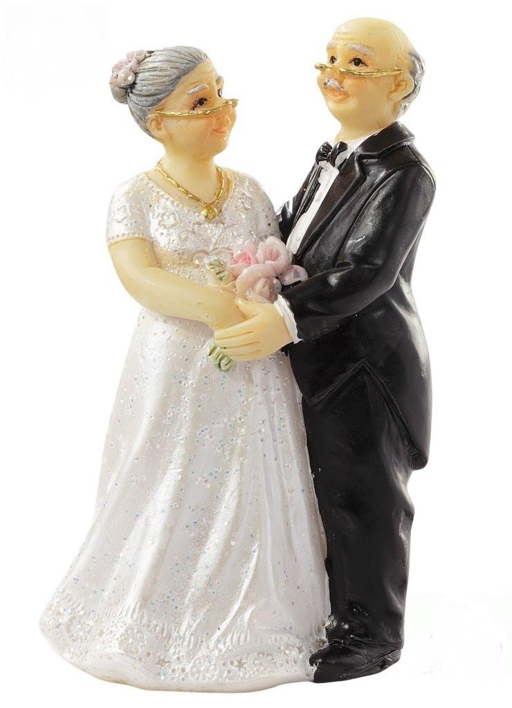 Hochzeit Diamant  Brautpaar Tortenaufsatz Diamantene Hochzeit Hochzeitspaar