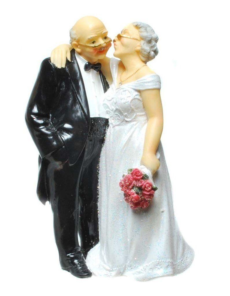Hochzeit Diamant  Brautpaar 15 cm Goldene Diamantene Hochzeit