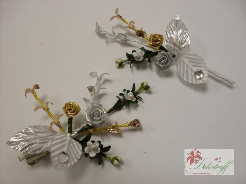 Hochzeit Diamant  Diamantene Hochzeit 60 Jahre Ehe Blüten Haarschmuck und