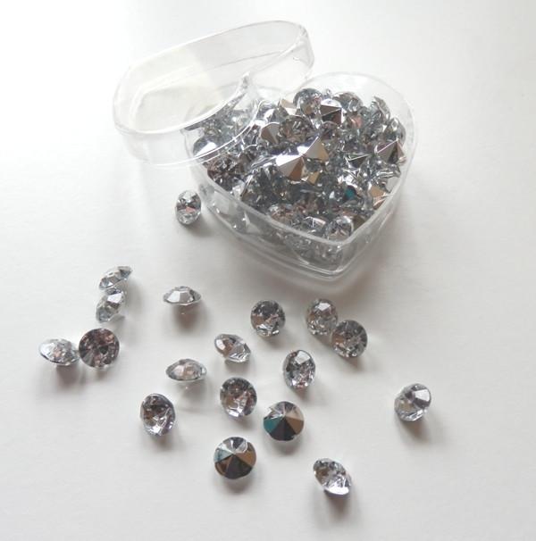 Hochzeit Diamant  120 St Diamanten 10 mm Diamant Hochzeit Tischdekoration