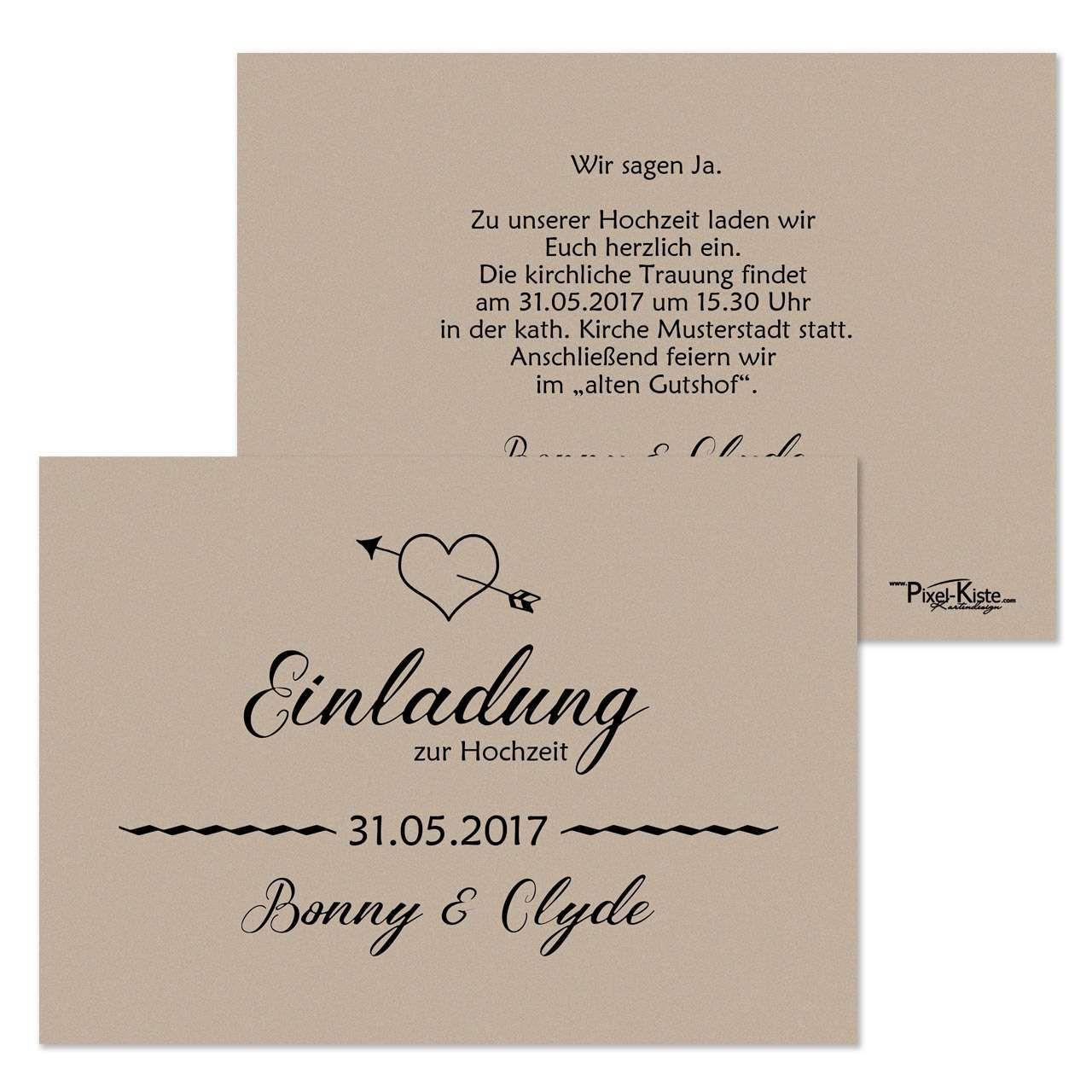 Hochzeit Einladungskarten Text  Einladungskarten Geburtstag Selbst Gestalten Kostenlos