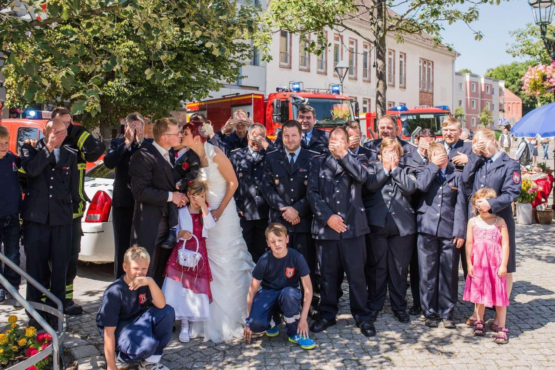 Hochzeit Feuerwehr  Feuerwehr Hochzeit Bernau Mandy und Axel sagen Danke