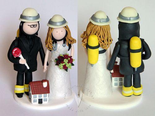 Hochzeit Feuerwehr  142 best images about Hochzeitstortenfiguren