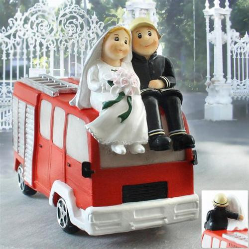 Hochzeit Feuerwehr  Spardose BRIDAL Brautpaar auf Feuerwehrauto Feuerwehr
