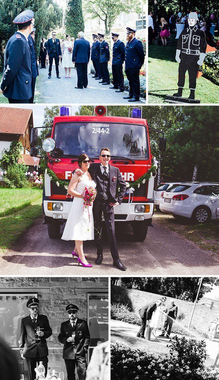 Hochzeit Feuerwehr  Feuerwehr Hochzeit Liebevolle DIY Hochzeit & Ideen