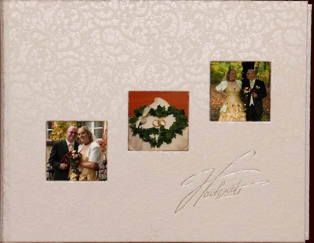 Hochzeit Fotoalbum  Passepartout Hochzeit Fotoalbum • Umschlag