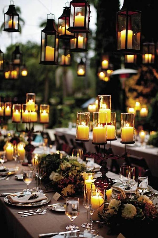 Hochzeit Gartenparty  Hochzeitskerzen romantische warme Licht Archzine