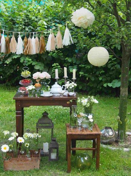 Hochzeit Gartenparty  Einladung Gartenparty Hochzeit Garten