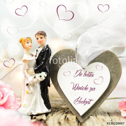 """Hochzeit Grüße  """"Hochzeitsgrüße Herz Brautpaar"""" Stockfotos und"""