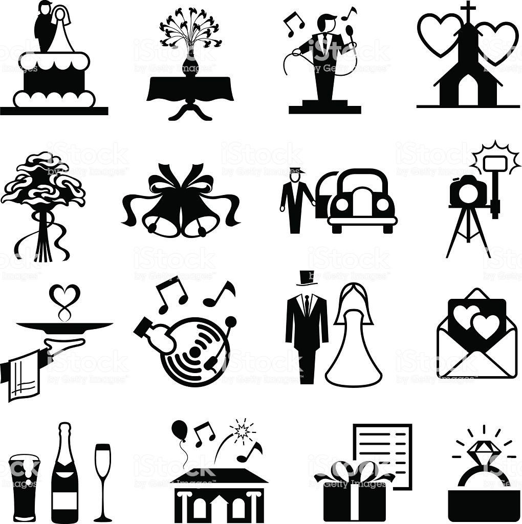 Hochzeit Icon  Hochzeit Iconset Stock Vektor Art und mehr Bilder von