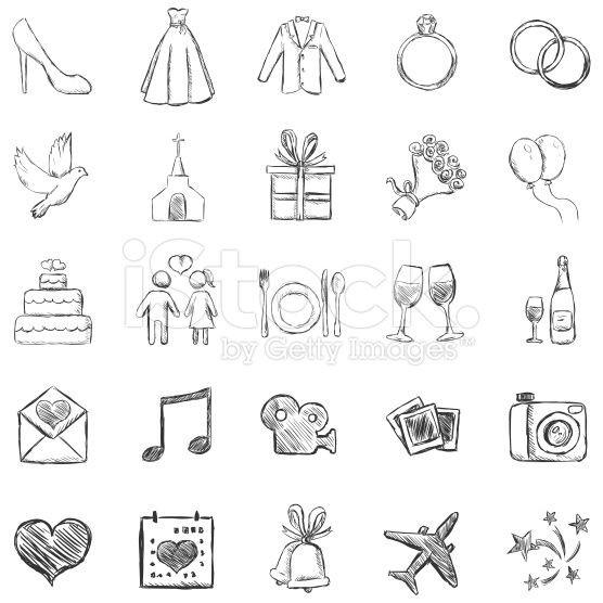 Hochzeit Icon  Vector Set of Sketch Weddings Icons