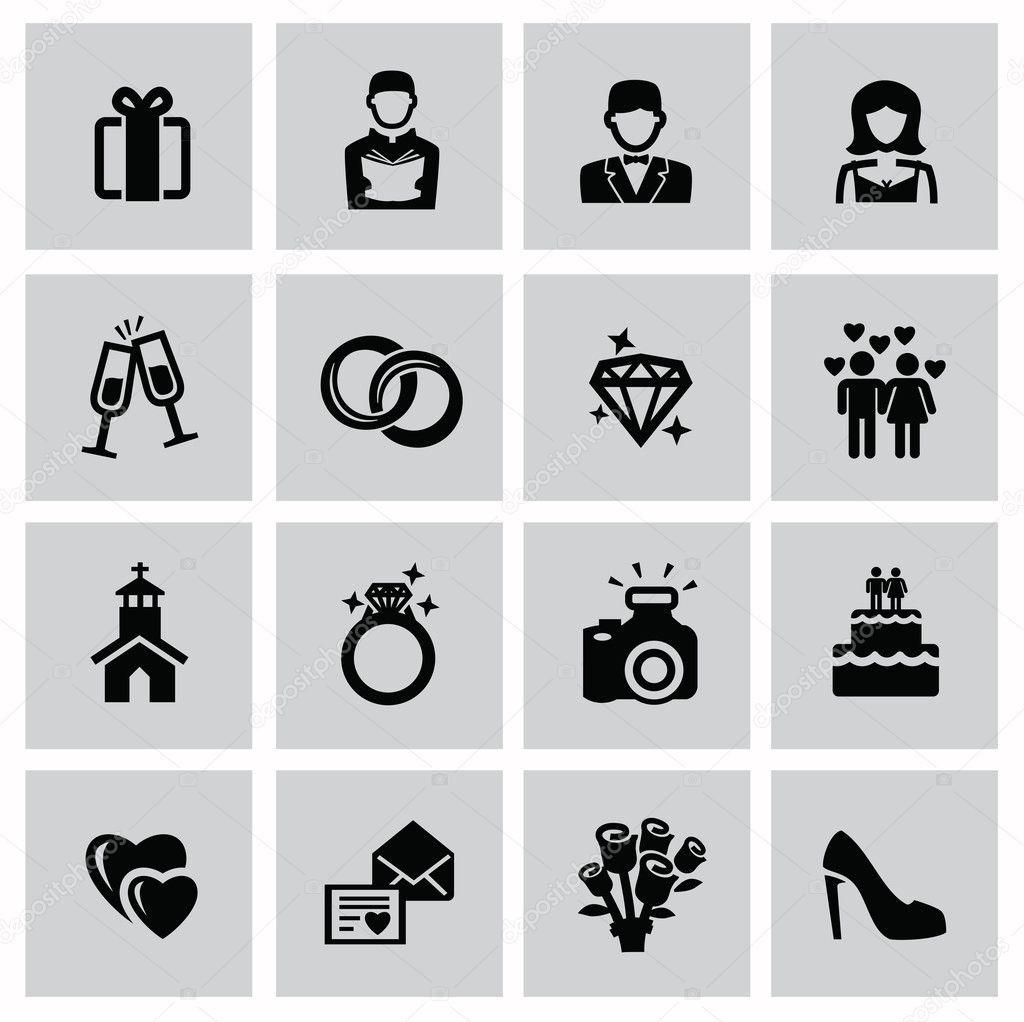 Hochzeit Icon  Hochzeit Symbole — Stockvektor © bioraven