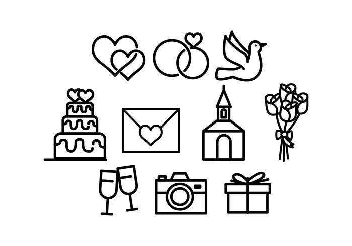Hochzeit Icon  Freie Hochzeit Icon Vektor Kostenlose Vektor Kunst