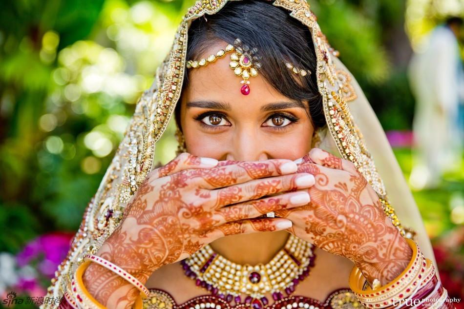Hochzeit Indien  Kultur germanina Bilder enthüllen Luxus bei