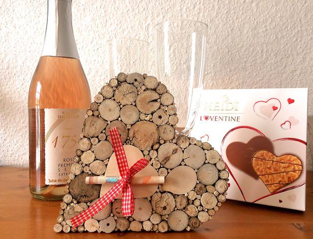 Hochzeit Jubiläum  Geldgeschenke Geldgeschenk Hochzeit Jubiläum Herz Holz
