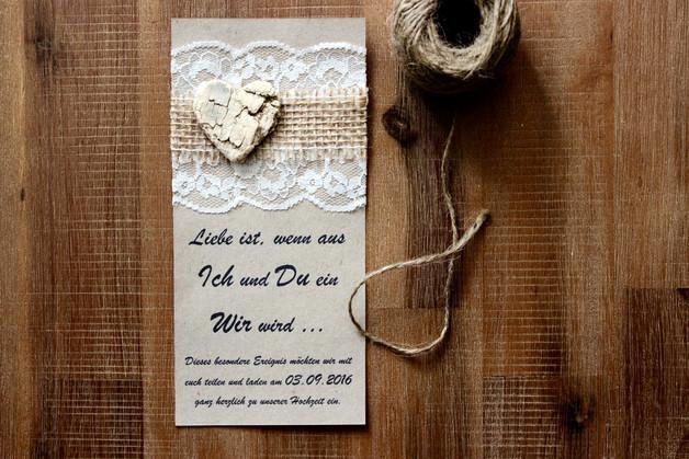 Hochzeit Jubiläum  Einladungskarten Einladung Hochzeit Jubiläum Jute Spitze