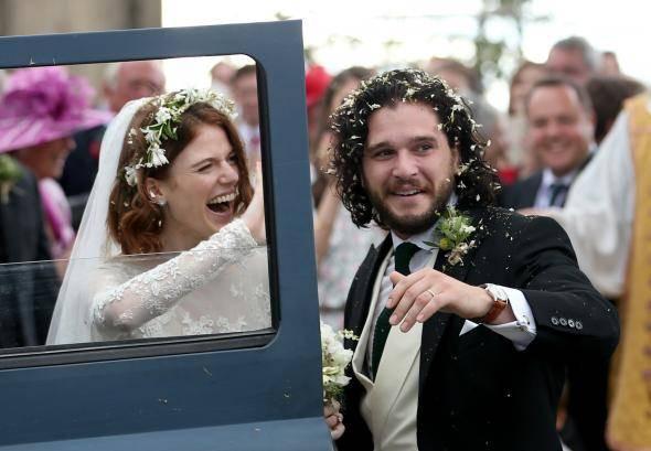 """Hochzeit Kit Harington  Hochzeit à la """"Game of Thrones"""" Rose Leslie und Kit"""