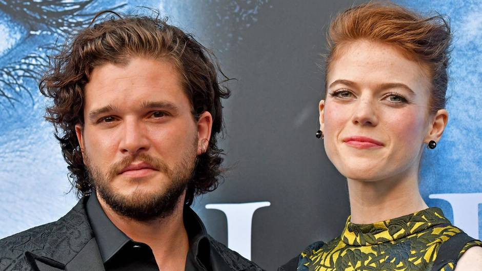 Hochzeit Kit Harington  Kit Harington und Rose Leslie Game of Thrones Stars sind