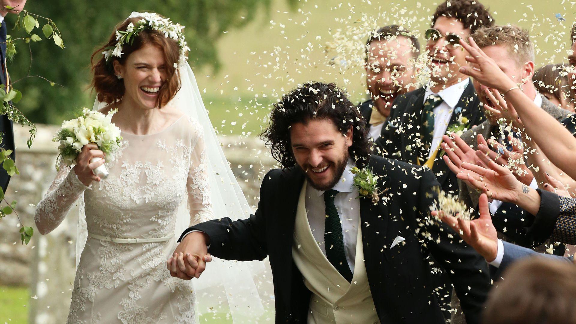 """Hochzeit Kit Harington  Kit & Roses Hochzeit Diese """"Game of Thrones"""" Stars waren"""