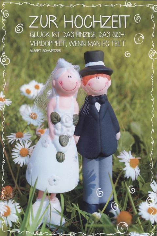 Hochzeit Lustig  Glückwunschkarte Hochzeit