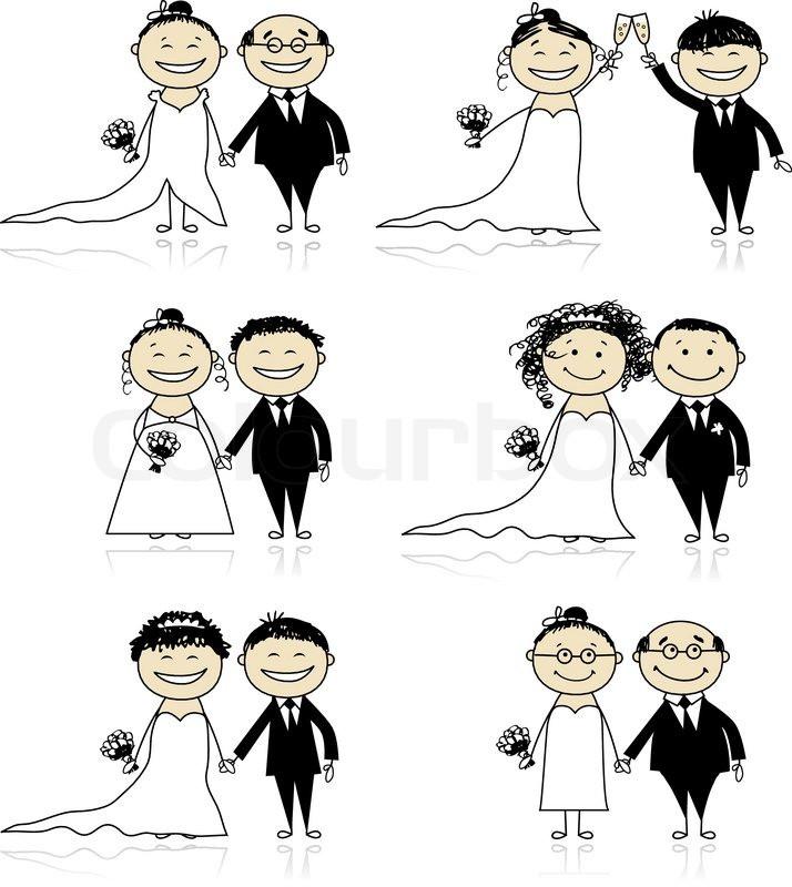 Hochzeit Lustig  Hochzeit lustig witzig Stock Vektor