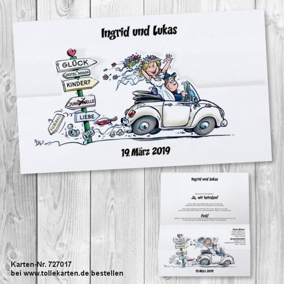 Hochzeit Lustig  Lustige Einladungskarte Hochzeit im ic Stil