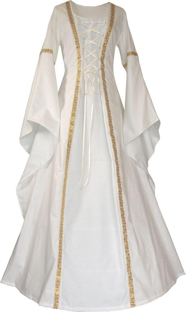 Hochzeit Mittelalter  Mittelalter Larp Hochzeit Braut Gewand Kleid Anna