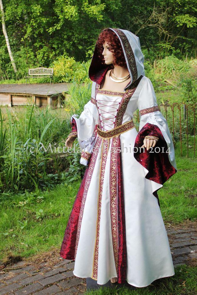 Hochzeit Mittelalter  Mittelalter Mittelalter Braut Kleidung Hochzeit Gewand