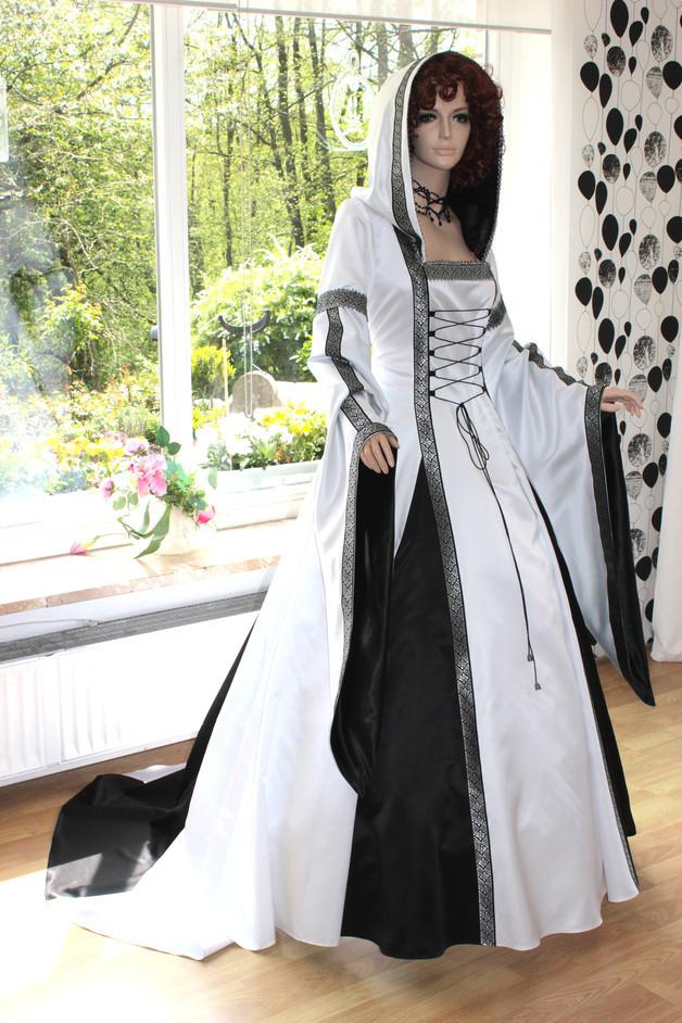 Hochzeit Mittelalter  Mittelalter Mittelalterkleid Hochzeit Gewand Braut