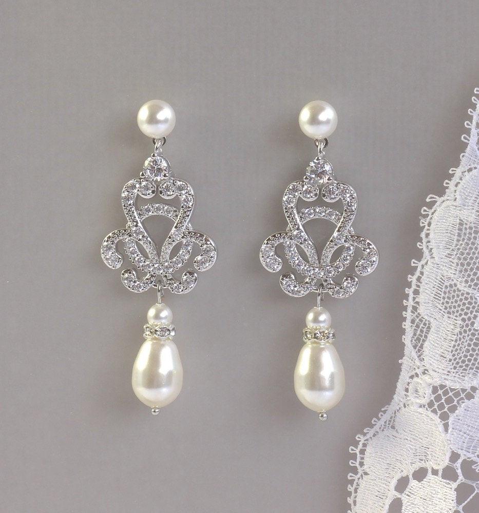 Hochzeit Ohrringe  Hochzeit Ohrringe Tropfen Vintage Braut Ohrringe