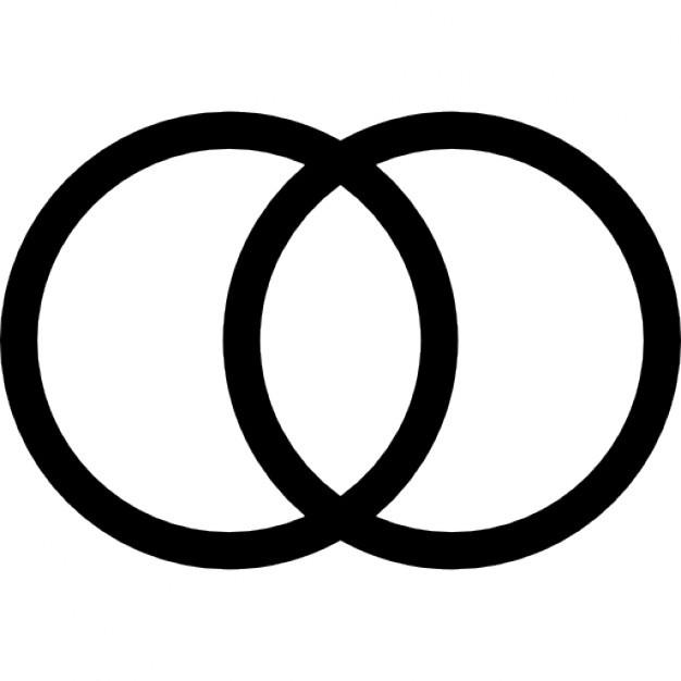 Hochzeit Ringe Symbol Schwarz Weiß  Fitness Studio Ringe Paar