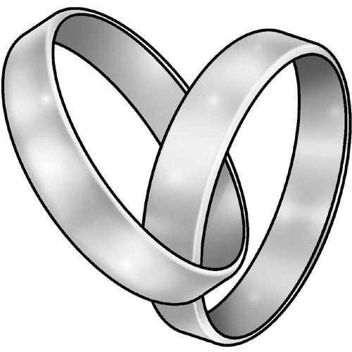 """Hochzeit Ringe Symbol Schwarz Weiß  """"Eheringe verschlungen"""" für personalisierte Geschenke"""