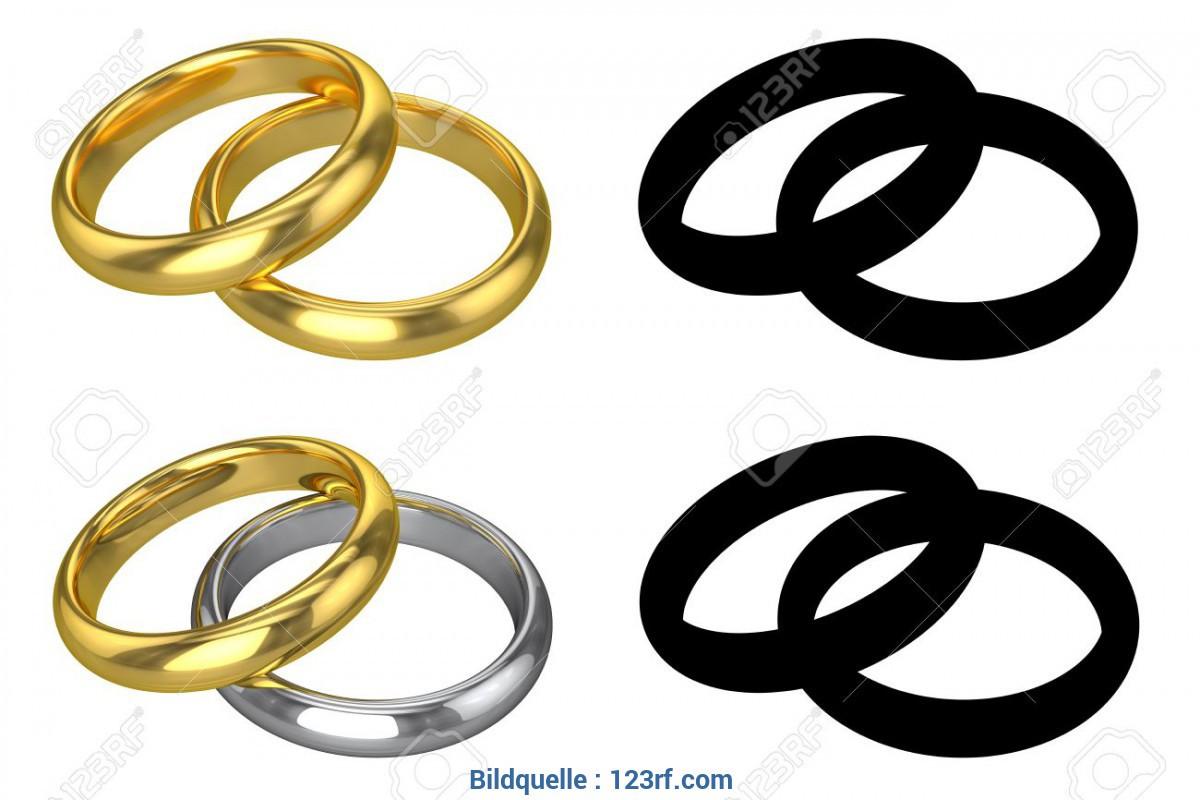 Hochzeit Ringe Symbol Schwarz Weiß  Atemberaubend Hochzeit Ringe Symbol Schwarz Weiß Realistic