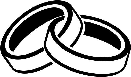 Hochzeit Ringe Symbol Schwarz Weiß  Hochzeitsringe Symbol Clipart Ringe Hochzeit Kostenlos 508