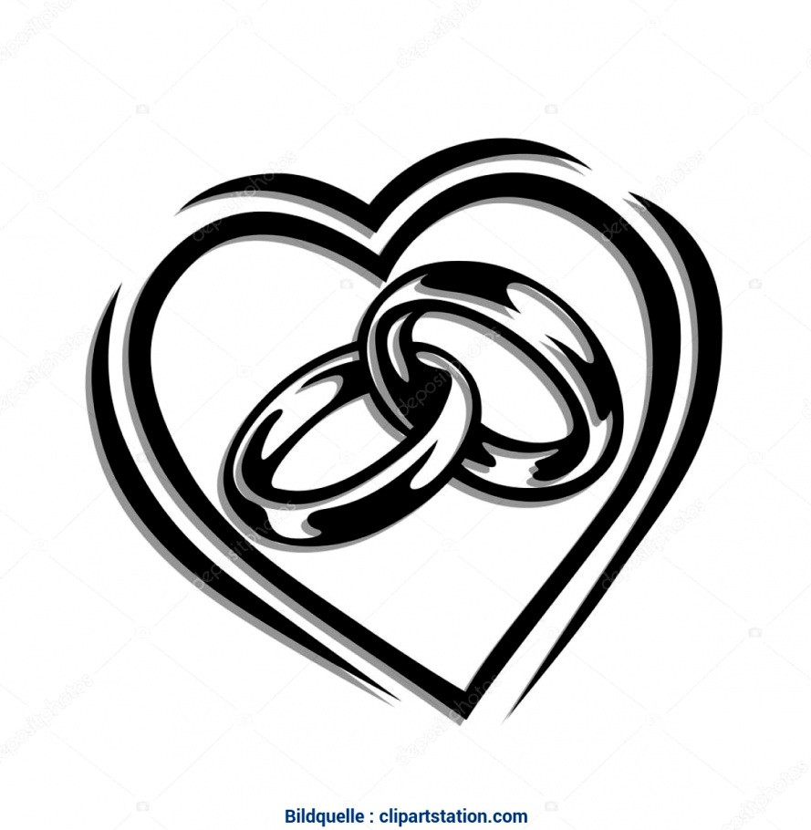 Hochzeit Ringe Symbol Schwarz Weiß  Neuesten Von Symbol Hochzeit Brautkleid Braut Und