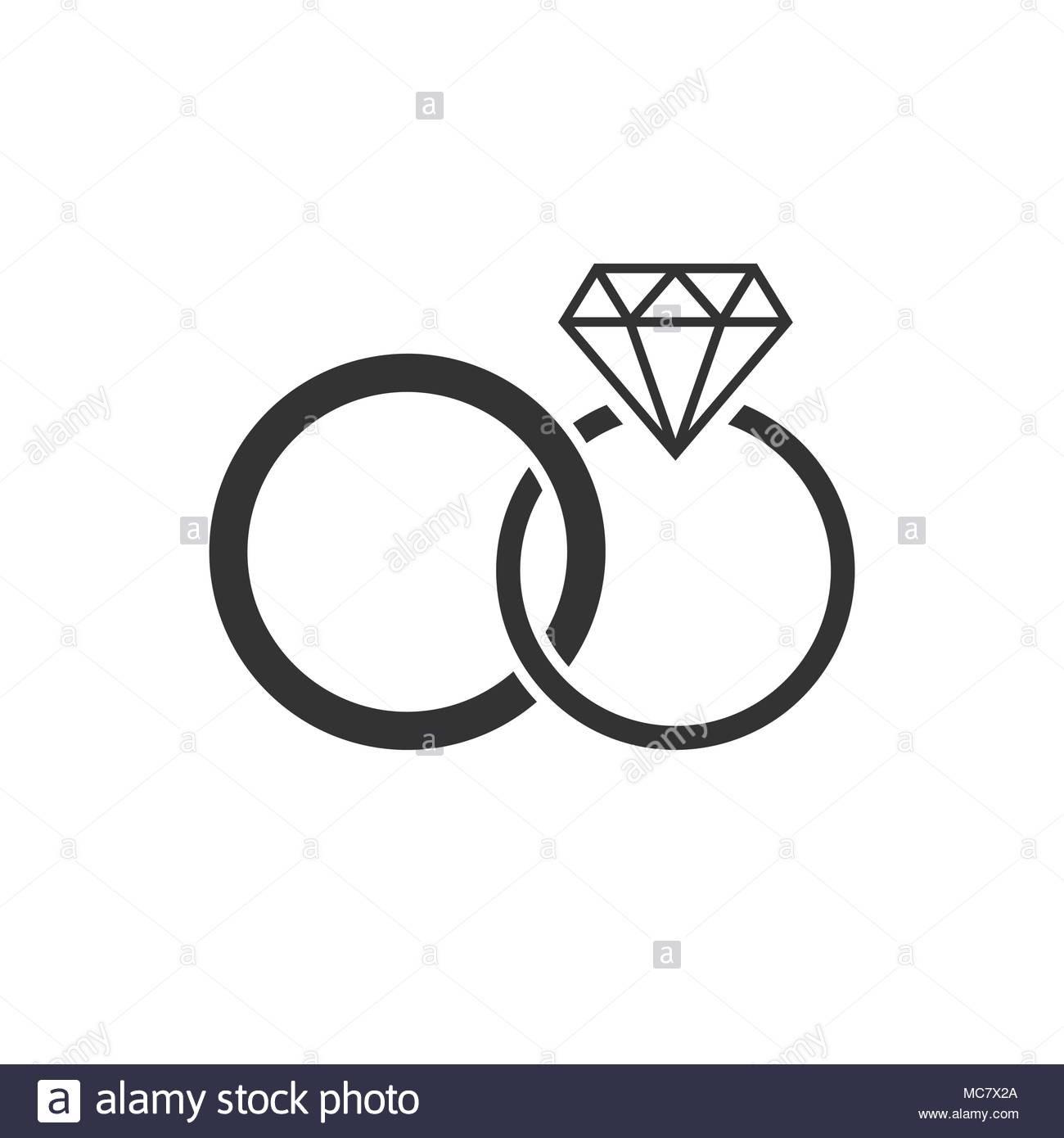 Hochzeit Ringe Symbol Schwarz Weiß  Hochzeit Ringe Symbol Schwarz Weiss