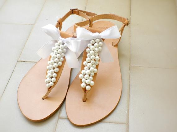 Hochzeit Sandalen  Hochzeits Schuh Hochzeit Sandalen griechische Sandalen mit
