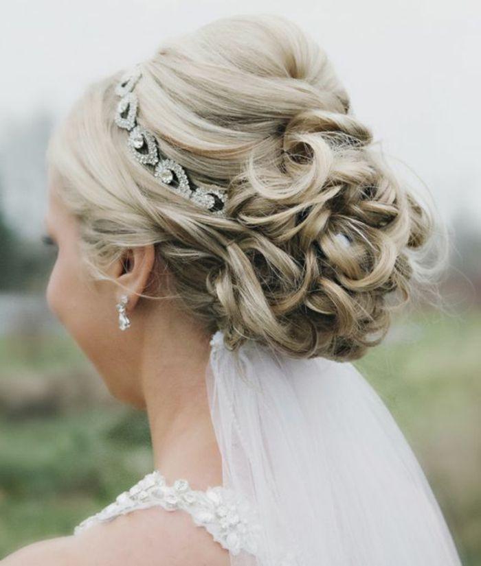 Hochzeit Schleier  Die besten 25 Brautfrisuren mit schleier Ideen auf Pinterest